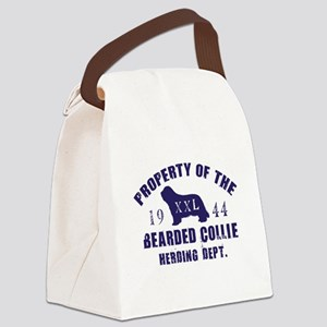 Property-Of-Bc-Herding-Navy Canvas Lunch Bag