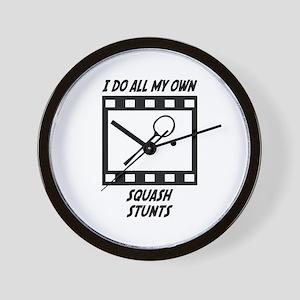 Squash Stunts Wall Clock