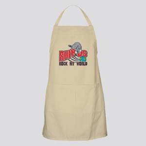 Rhinos Rock My World BBQ Apron