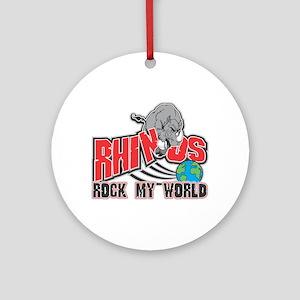 Rhinos Rock My World Ornament (Round)