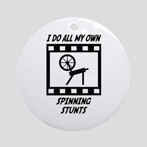 Spinning Stunts Ornament (Round)