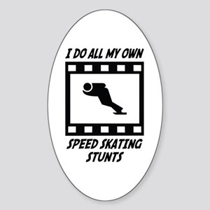 Speed Skating Stunts Oval Sticker