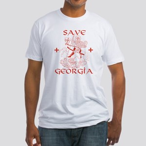 Save Georgia from Russia Fitted T-Shirt