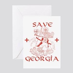 Save Georgia from Russia Greeting Card