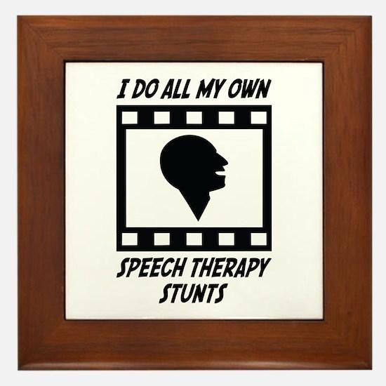Speech Therapy Stunts Framed Tile