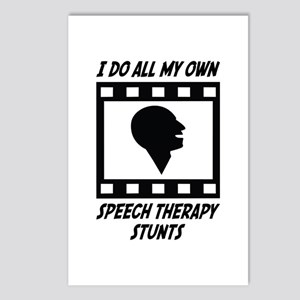 Speech Therapy Stunts Postcards (Package of 8)