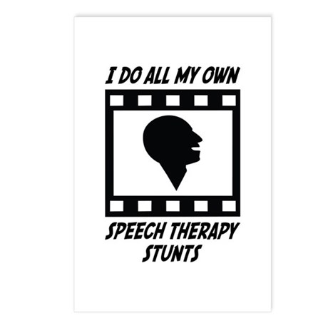 Speech Therapy Stunts Postcards (Package of 8) by ultrastunts