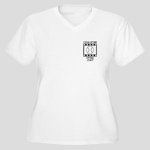 Softball Stunts Women's Plus Size V-Neck T-Shirt