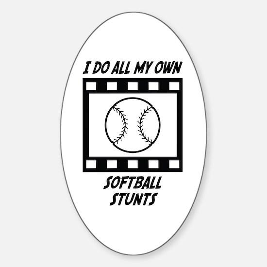 Softball Stunts Oval Decal