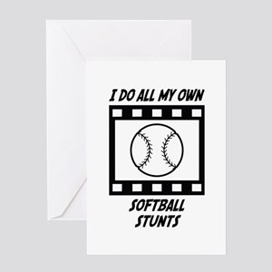 Softball Stunts Greeting Card