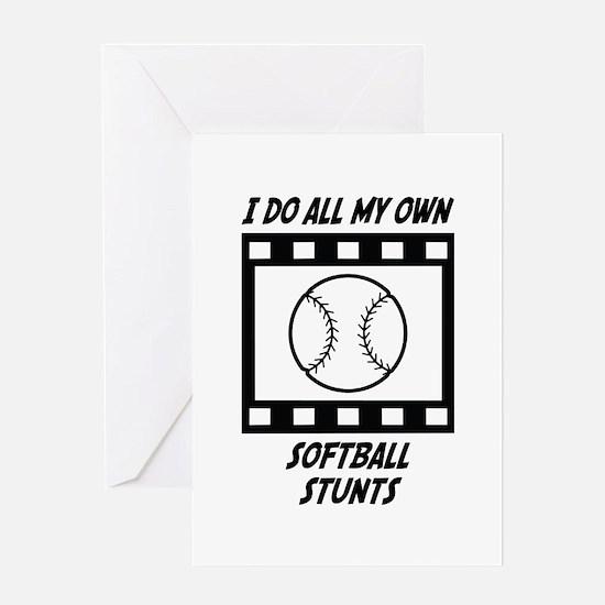 Softball Stunts Greeting Card
