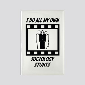 Sociology Stunts Rectangle Magnet