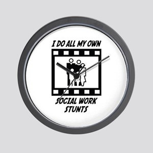 Social Work Stunts Wall Clock