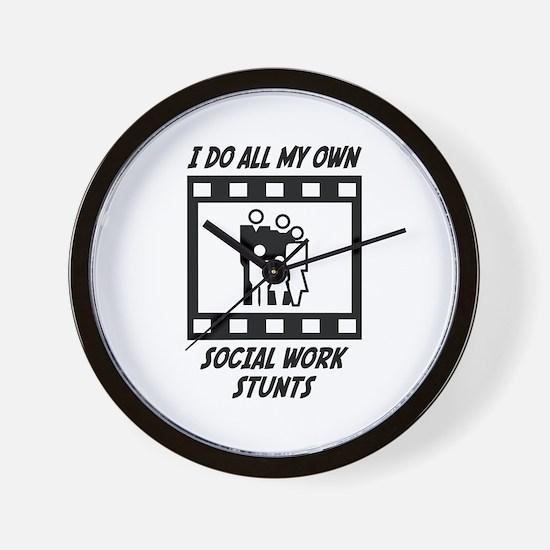 Social Work Stunts Wall Clock