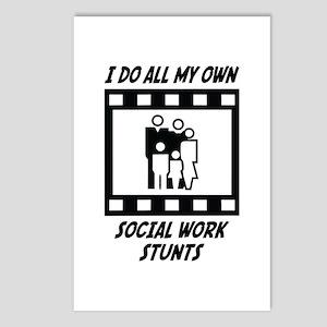 Social Work Stunts Postcards (Package of 8)
