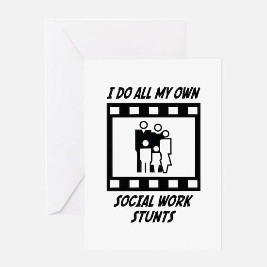 Social Work Stunts Greeting Card