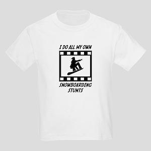 Snowboarding Stunts Kids Light T-Shirt
