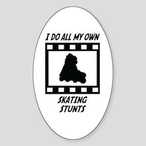 Skating Stunts Oval Sticker