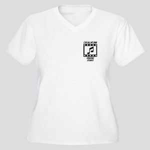 Singing Stunts Women's Plus Size V-Neck T-Shirt