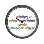 Pastel PREVENT NOISE POLLUTION Wall Clock