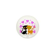 Kitty Cat Love Mini Button (100 pack)