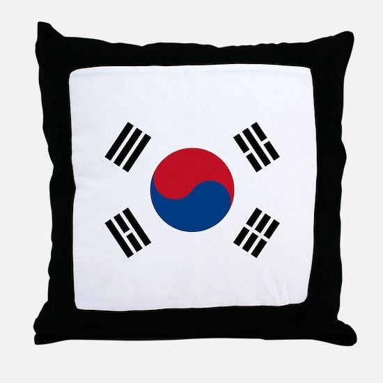 South Korean Flag Throw Pillow