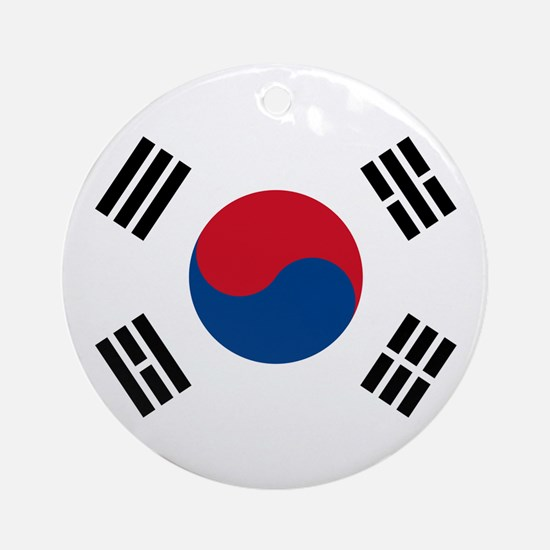 South Korean Flag Ornament (Round)