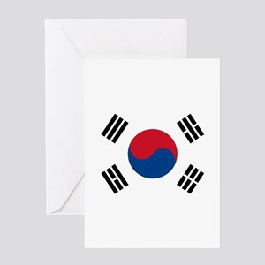 Korean greeting cards cafepress south korean flag greeting card m4hsunfo Images