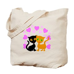Kitty Cat Love Tote Bag