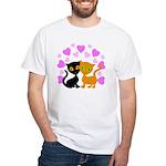 Kitty Cat Love White T-Shirt