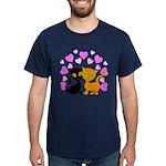 Kitty Cat Love Dark T-Shirt