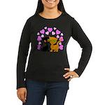 Kitty Cat Love Women's Long Sleeve Dark T-Shirt