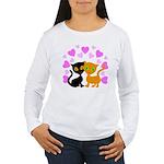 Kitty Cat Love Women's Long Sleeve T-Shirt