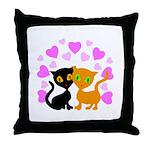 Kitty Cat Love Throw Pillow