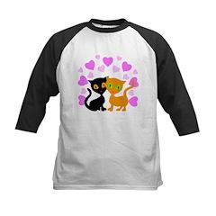Kitty Cat Love Kids Baseball Jersey