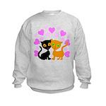 Kitty Cat Love Kids Sweatshirt