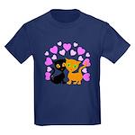 Kitty Cat Love Kids Dark T-Shirt