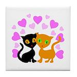 Kitty Cat Love Tile Coaster