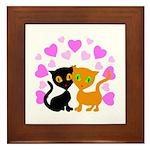 Kitty Cat Love Framed Tile