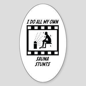 Sauna Stunts Oval Sticker