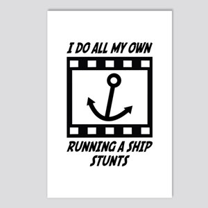 Running a Ship Stunts Postcards (Package of 8)