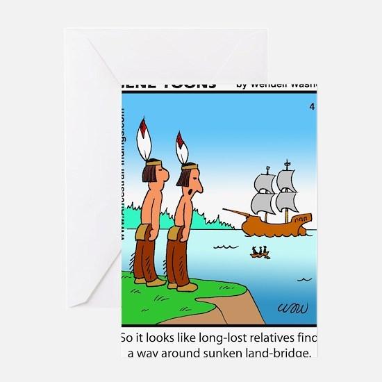 #4 Sunken land-bridge Greeting Card