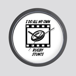 Rugby Stunts Wall Clock