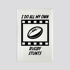 Rugby Stunts Rectangle Magnet