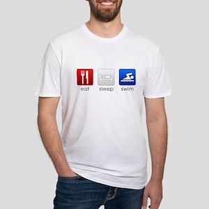 Eat Sleep Swim Fitted T-Shirt