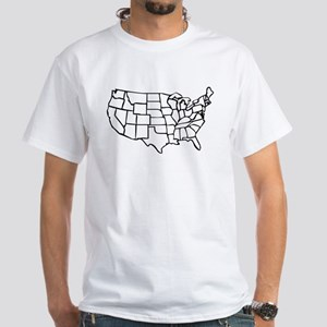 US Map Men's Classic T-Shirts