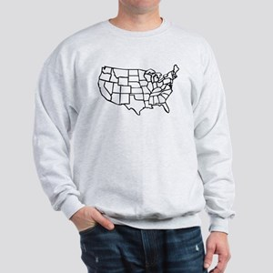 US Map Sweatshirt