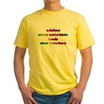 Rainbow PREVENT NOISE POLLUTION Yellow T-Shirt