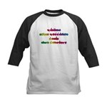 Rainbow PREVENT NOISE POLLUTION Kids Baseball Jers