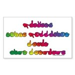 Rainbow PREVENT NOISE POLLUTION Rectangle Sticker